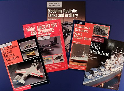 MIKE ASHEY SCALE MODELING BOOKS